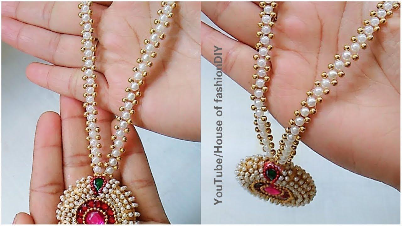 c00d2944c Latest Model Pearl Jewellery|| Silk thread Jewellery - YouTube