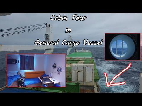 Cabin Tour in General Cargo Ship -  HD