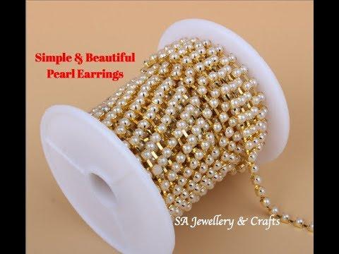 DIY | Pearl Earrings | Simple & Easy to make at home