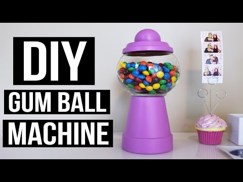 CHEAP AND EASY DIY GUM BALL MACHINE   PINTEREST INSPIRED