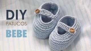 Repeat youtube video DIY TEJER: Patucos zapatitos de bebe (patrones gratis)