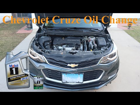Chevrolet Cruze 1.4L (2016-2019) – Oil Change
