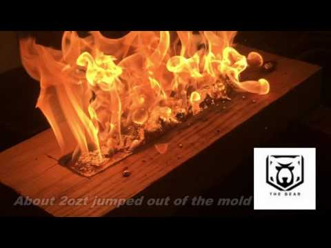 Epic 1 Kilo silver bar poured in wood