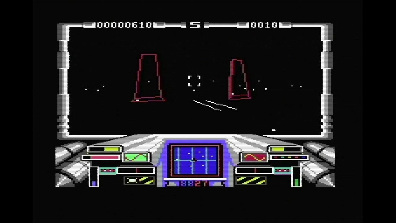 C64 Game - Star Glider - Gameplay - C64 reloaded mk2 with 8580R5 & FPGASID  - Framemeister 720p/50Hz