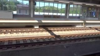 まるで山陽新幹線の駅から出発るこだまのような風潮がある成田湯川駅を出発する成田スカイアクセス線上り3050形の車窓