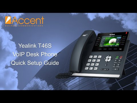 Yealink T46S Quick Setup Guide - YouTube