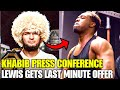 Derrick Lewis gets short-notice offer, Khabib set to hold press conference, Jon Jones at heavyweight