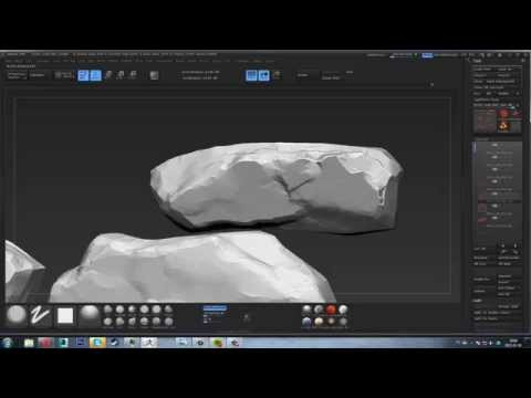 Sculpting stone wall.  Part 4.  Zbrush .