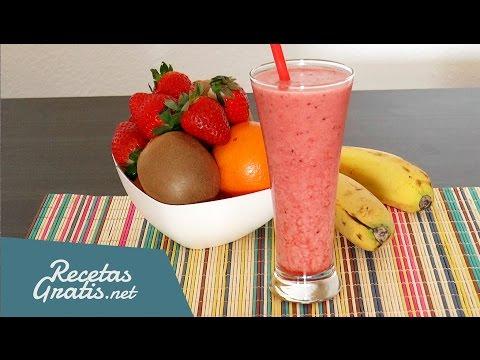 Jugo energético de frutas - Fresa y kiwi