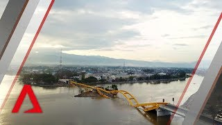 Video Drone footage of tsunami-hit Indonesian city Palu download MP3, 3GP, MP4, WEBM, AVI, FLV November 2018