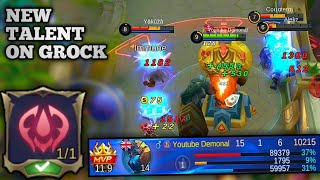 GROCK IS BACK!!! INSANE LIFESTEAL WITH NEW FIGHTER TALENT | MOBILE LEGENDS