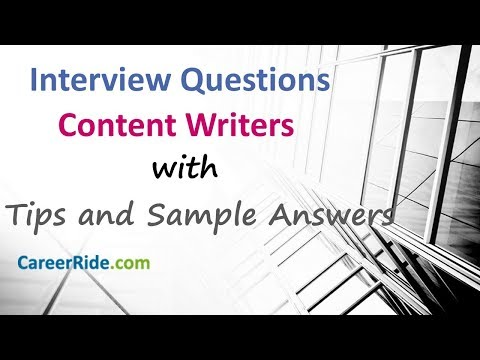 Content Writer Interview Questions And Answers - Technical Writer Interview Questions And Answers!