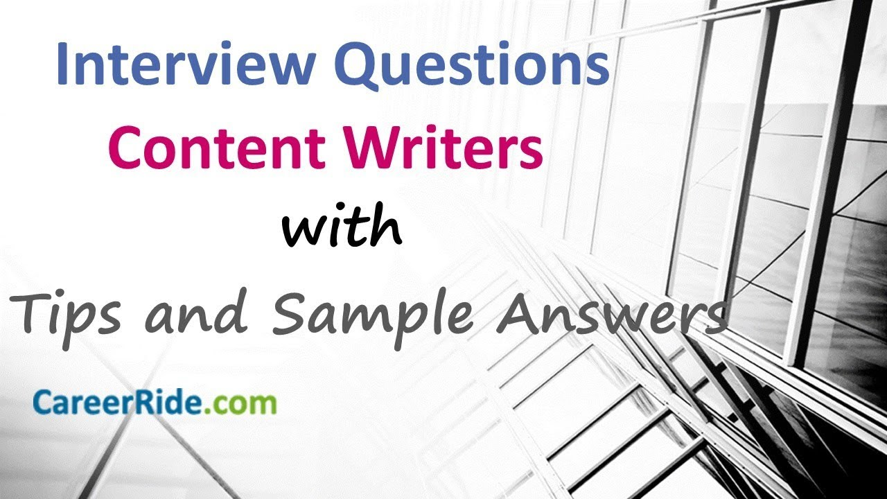technical writer interview questions and answers