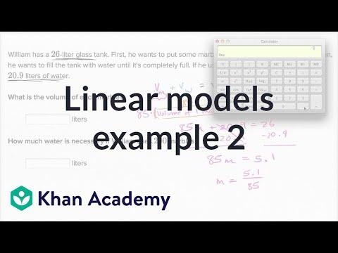 Linear Models Example 2 | Algebra I | Khan Academy