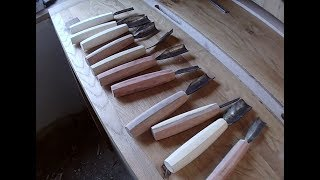 Making gouges from a saw blade (using Pask Makes handle making jig)