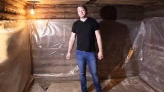 Ремонт в бане вторая часть | Заливка стяжки в бане(Вторая часть моего сериала по ремонтный работам в бане, в этом видео подробно описываю заливку водоотводящ..., 2016-06-15T00:08:58.000Z)