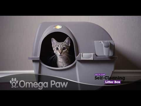 Omega Paw Roll'n Clean - The Litter Box That Cleans By Itself!