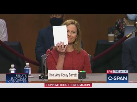Entire Internet ERUPTS When Amy Coney Barrett Holds Up Her Notes During Hearing