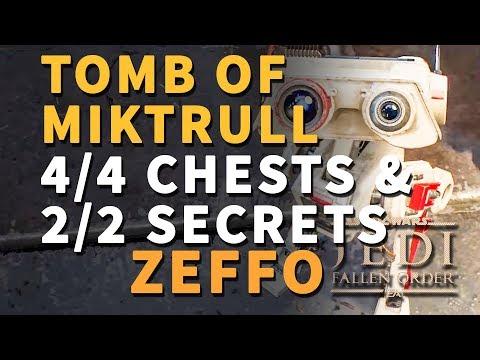 Tomb Of Miktrull Chests & Secrets All Locations Zeffo Star Wars Jedi Fallen Order