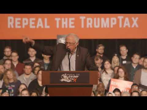 Bernie Sanders Rails Against Republican Tax Plan at Lansing Rally
