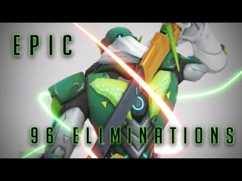 EPIC Overwatch Match 96 Kills With Genji