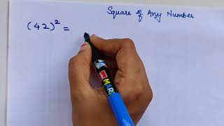 Shortcut to find sqขare of any number