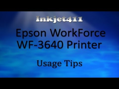 Epson WorkForce WF-3640 Printer (252 Ink Cartridge Tips)