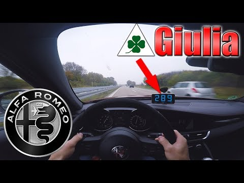 CRAZY! Alfa Romeo Giulia Quadrifoglio with MANUAL (510Hp) Terrorizing German Autobahn! [60FPS]