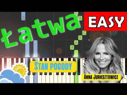 🎹 Stan pogody (A. Jurksztowicz, K. Dębski) - Piano Tutorial (łatwa wersja) 🎹