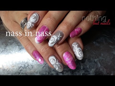 nailart nass in nass barbie & 3D Rose  nothing but nails