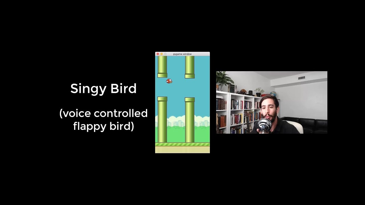 Voice Controlled Flappy Bird - Make Art with Python