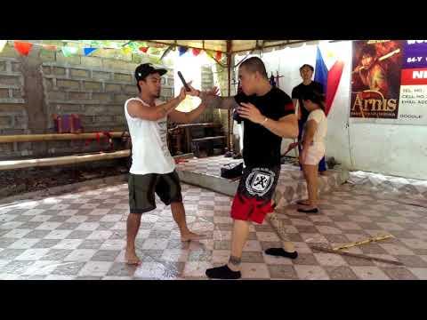 Balintawak Basic disarming the nickelstick way with Guro Chan And Mater Norman