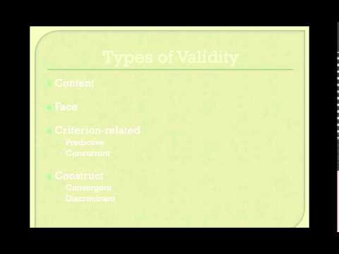 Survey Research part3 - Types of instruments, reliability, validity