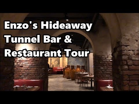 Enzo's Hideaway Tunnel Bar and Restaurant | Full Tour | Disney Springs