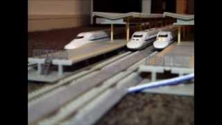 東海道新幹線の駅 Nゲージ(鉄道模型)