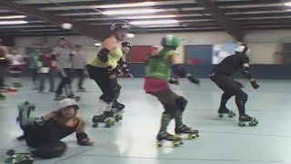 Mendo Mayhem. Roller Derby Girls Practice.