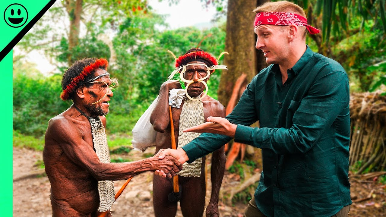 Making FIRST CONTACT with Papua's Dani Tribe Leader!!! (Raw Clip)