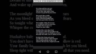 The cutters' lullaby sung
