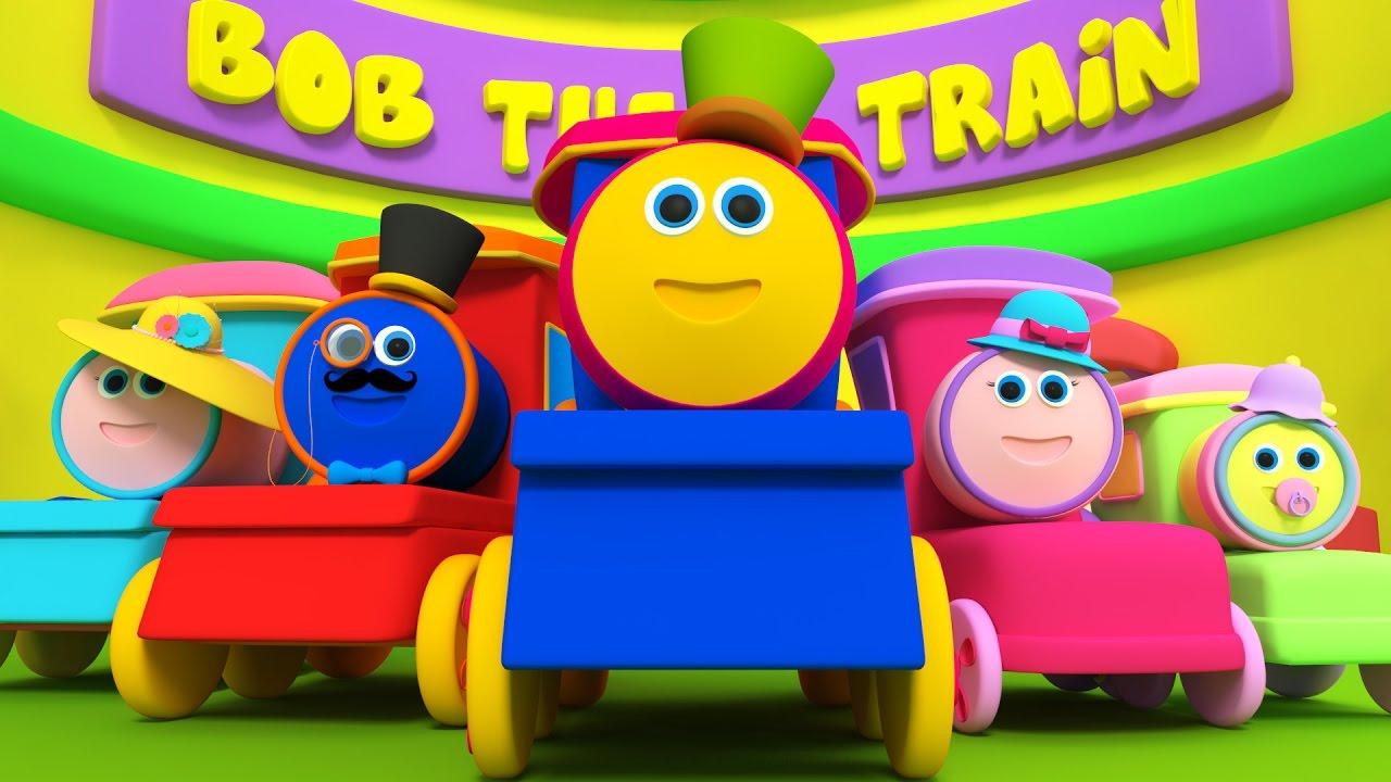 Bob o trem dedo família rima de bebê the train