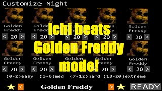 Ichi BEATS Golden Freddy 10/20 Mode, LEGIT, UNCUT, COMPLETE!