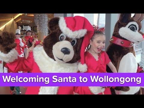 Welcoming Santa To Wollongong