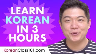 Learn Korean in 3 hours - ALL …