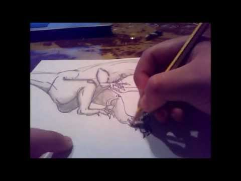 Speed Drawing Velociraptor Youtube