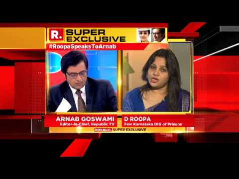 D Roopa IPS Speaks to Arnab