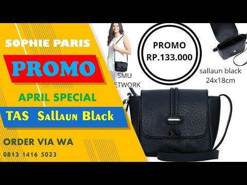 promo murah TAS SALLAUN Black Sophie Paris order by wa 0813 1416 5023 - 동영상