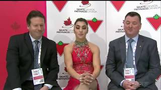 Gabrielle DALEMAN Free Skate 2019 Canadian National Skating Championships