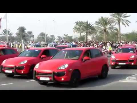 Police De Qatar Defile En Porsche Youtube