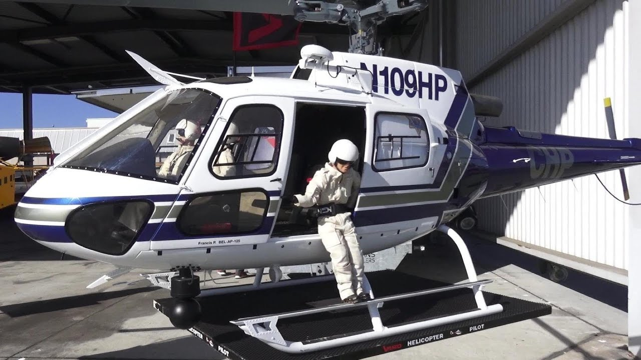 AMAZING DETAILED RC SCALE ECUREUIL AS350 POLICE MODEL VARIO HELICOPTER N109HP