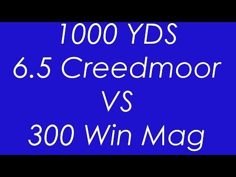 65 Creedmoor VS 300 WinMag 1000 yard Ballistics compared - YouTube