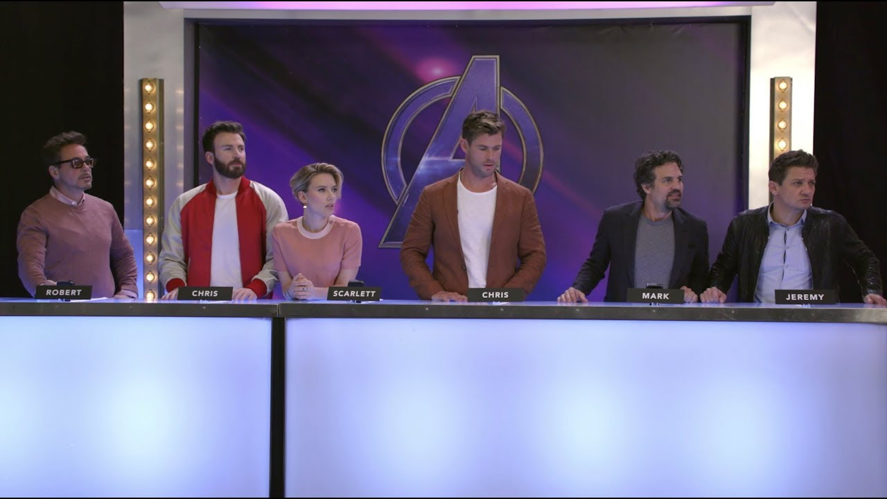The Stars of Marvel Studios    Avengers  Endgame Play a Drawing Game